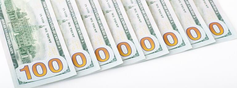 $100 bills USD
