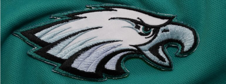 Sewn Philadelphia Eagles logo