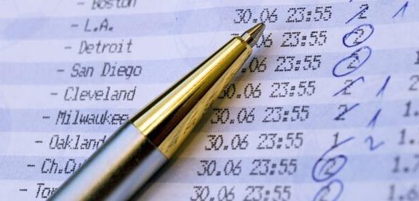 pen on betting slip