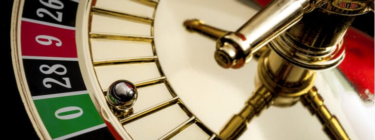 Roulette wheel on zero