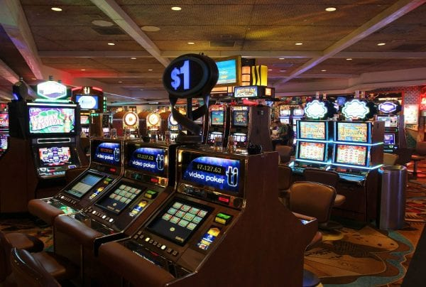 video poker machines in a casino